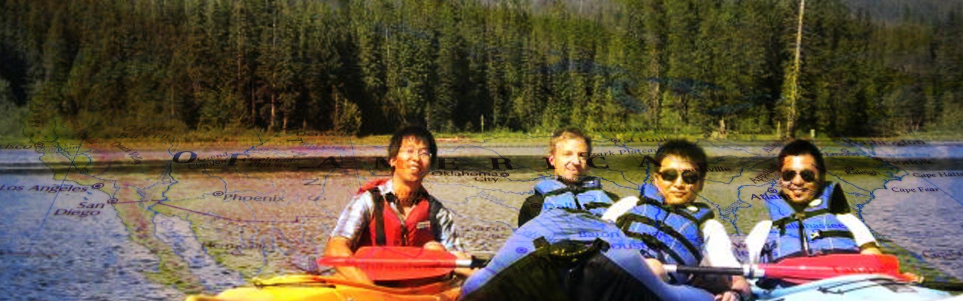 Research team kayaking