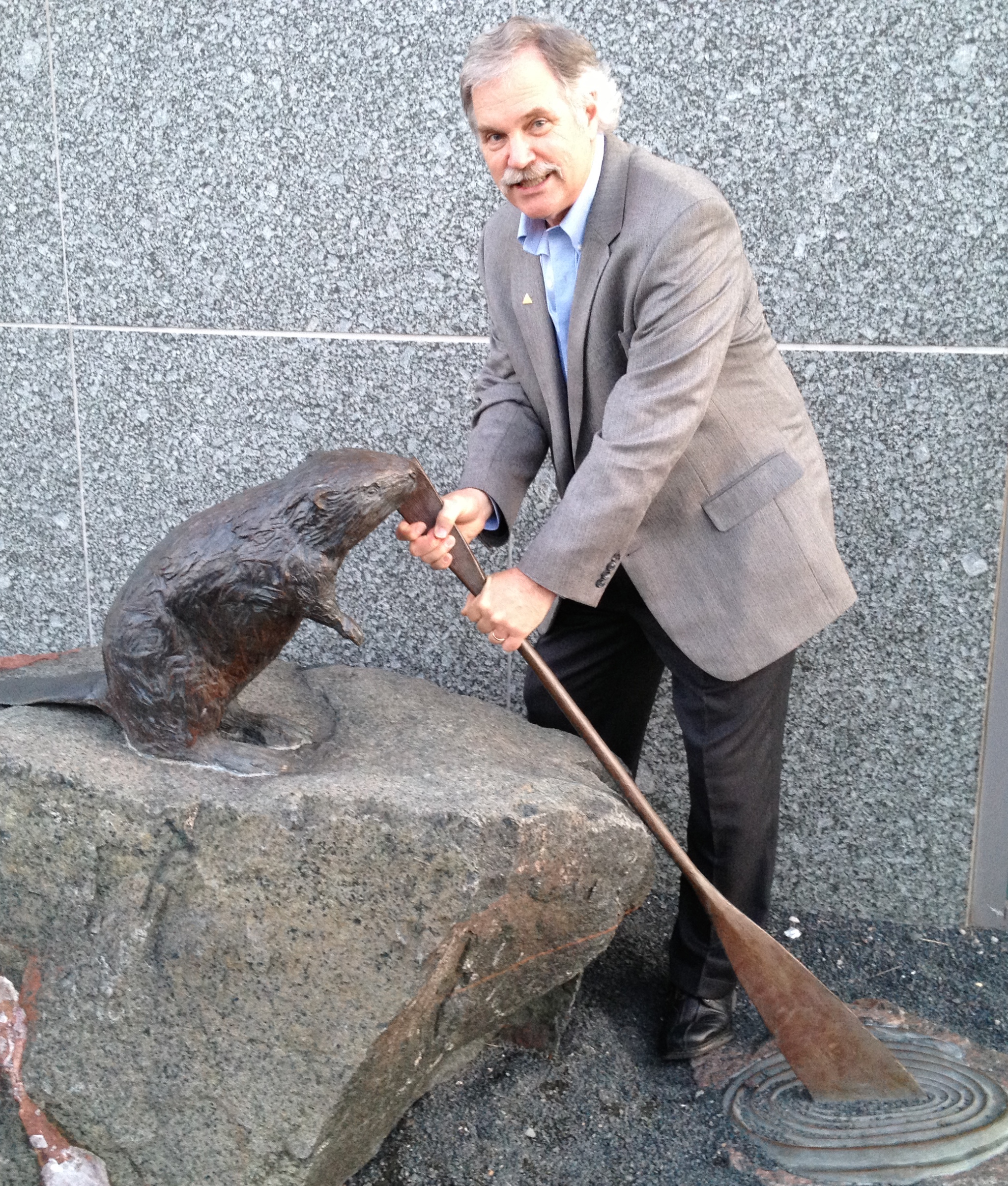 Brooks with Beaver Statue