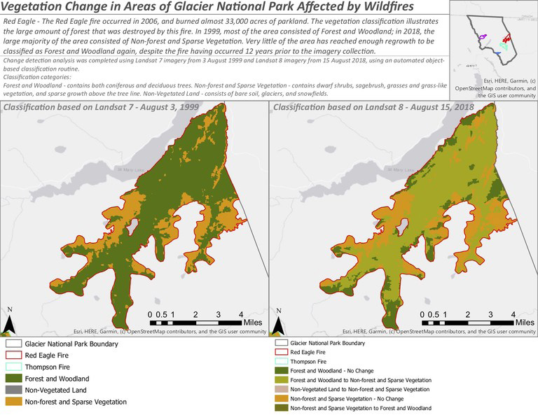 vegetation change map