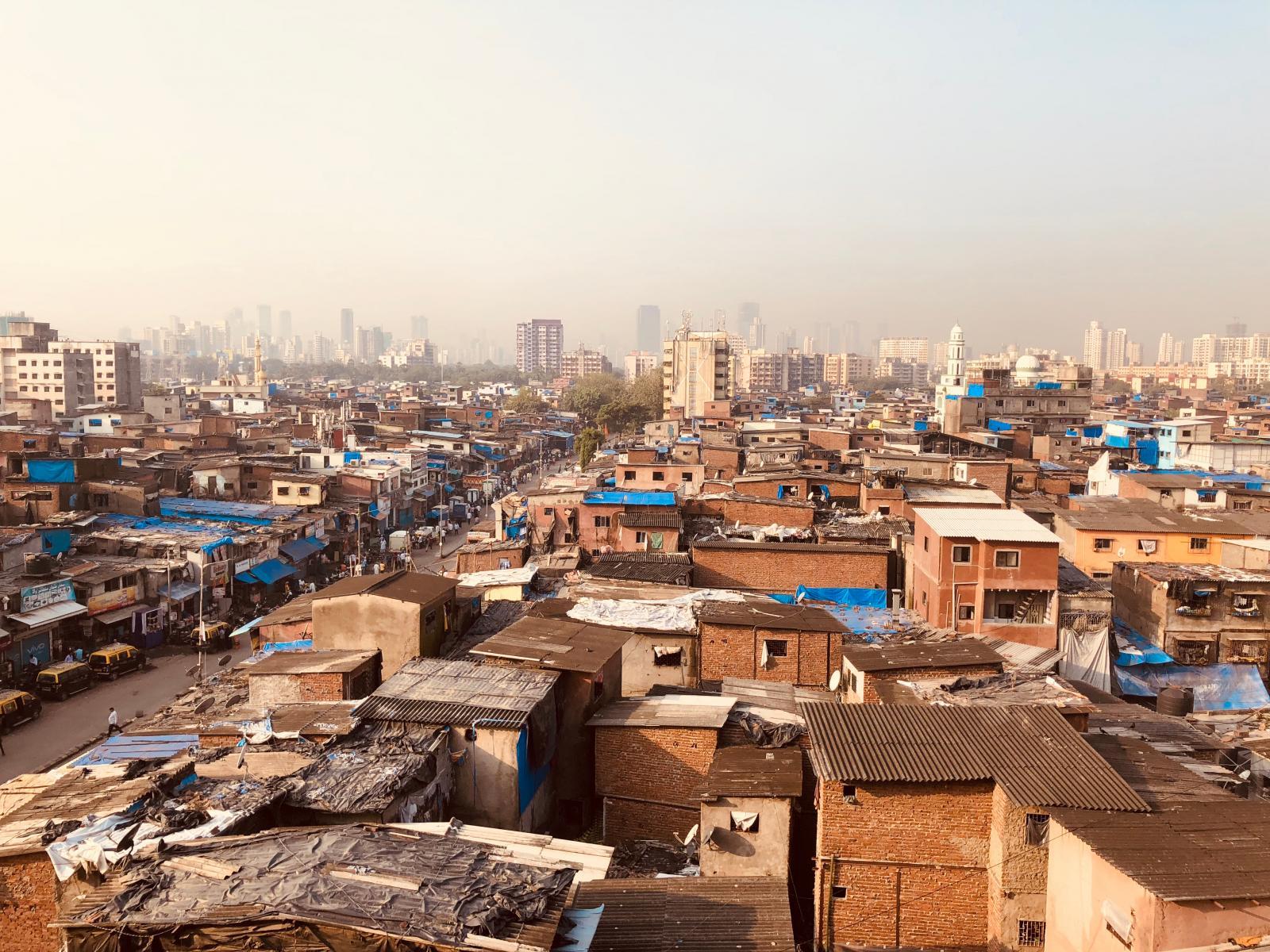 informal settlement of Dharavi. Heart of Mumbai