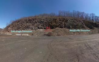 Reedsville virtual reality field trip showing the two differing rock formations