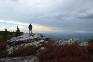 Mike Hermann visits Bear Rocks Preserve at Dolly Sods, Monongahela National Forest, West Virginia, while working on the Dolly So