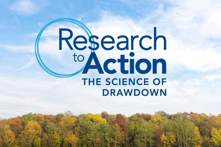 climate solutions conference Research to Action: The Science of Drawdown.