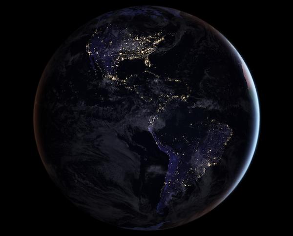 black marble. NASA