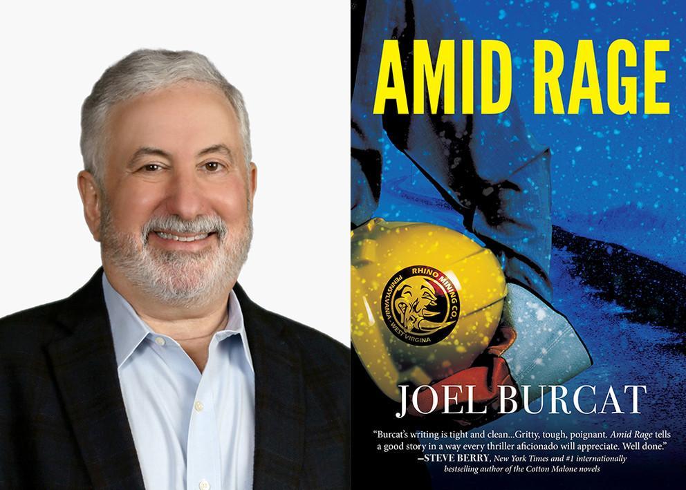 """Amid Rage"" is Joel Burcat's second novel"