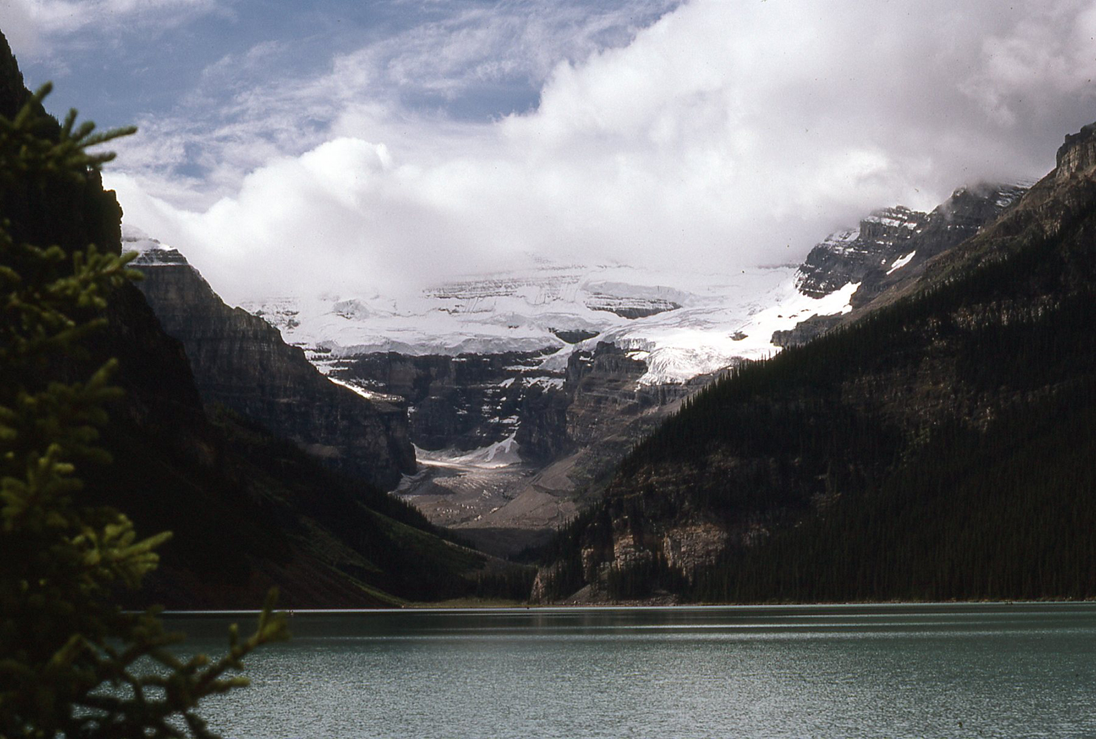 Glacial retreat Lake Louise